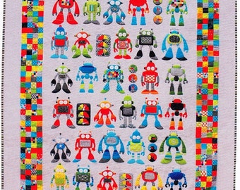 Robot Riot Quilting Pattern- Don't Look Now