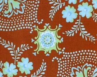 Brown - Jennifer Paganelli - Pretty Please - Ann Flower Mural JP12 100% Quilters Cotton Available in Yards, Half Yards and Fat Quarters