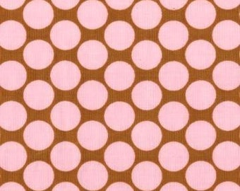 FAT QUARTER  - Camel Full Moon Polka Dot - Amy Butler - Lotus Collection