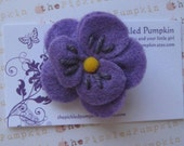Store Closing Purple Felt Flower Clip