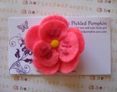 Coupon Code 45 percent Pink Felt Flower Clip
