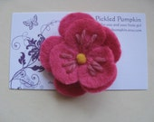 Store Closing Coupon Code 35 percent Fuschia Felt Flower Clip