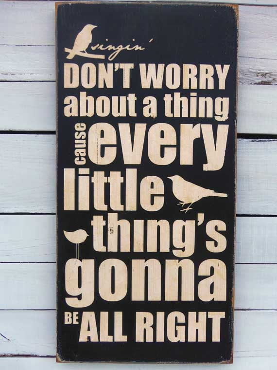 Pallet Sign Don't Worry Be Happy Pallet by ... |Hand Sign Dont Worry Tumblr