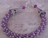 Violet and Lavender Kumi-himo Bracelet