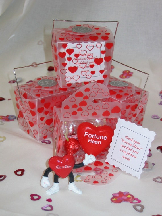 Valentine's Chinese Take Out Box Fortune Heart