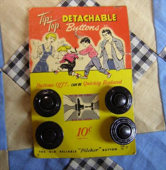 Vintage Card Detachable Metal Buttons