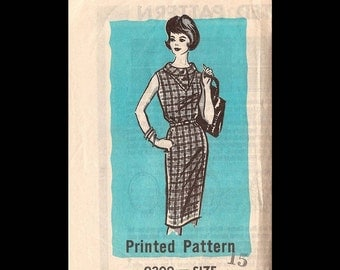 1960s Idaho Farmer Juniors' and Misses' One-Piece Dress Pattern 9309