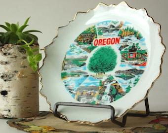 Oregon State Vintage Souvenir Plate