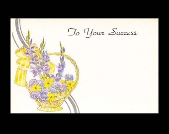 Vintage Floral Shop Gift Tags and Greetings - To Your Success