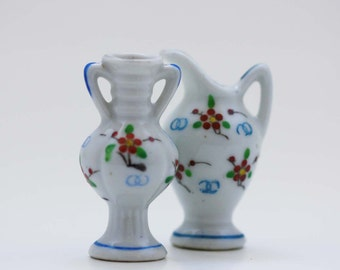 Tiny Vintage Urn and Pitcher Figurines