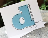 12 Big Initial Monogrammed Stationery Folded Note Cards