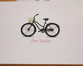 Set of 15 Personalized Stationery Bike with Basket Beach Cruiser