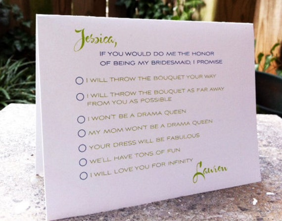 5 Customized Will You Be My Bridesmaid Cards
