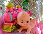 Adorable 60s vintage Kewpie Doll baby collectible toy cake topper supplies