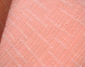 70s vintage peach polyester textured fabric