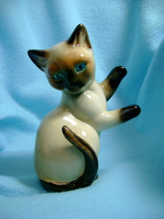 Goebel W Germany Siamese cat figurine vintage