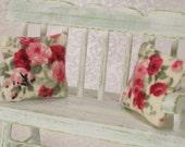 Dollhouse Miniature Cabbage Roses Pillow Set