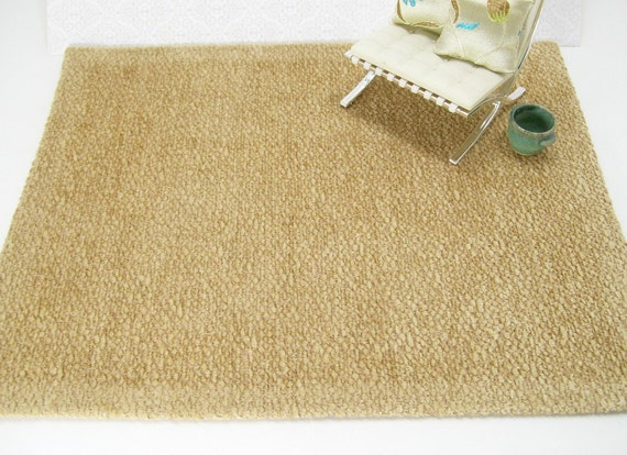 1:12 Dollhouse Miniatures Rug Carpet Honey Gold Transitional One Inch
