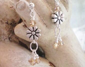 D A I S Y - Swarovski Crystal Drop Earrings