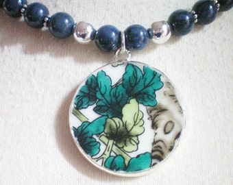 MING PORCELAIN ~ Sodalite Semi-Precious Stone Beaded Necklace