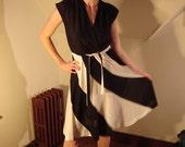 Beautiful Black and White 70s Dress