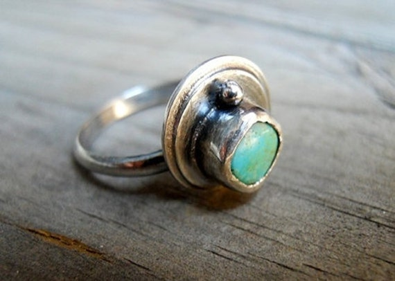 ON SALE - Turquoise Sterling Silver Ring