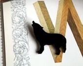 The Black Wolf - Perspex Brooch