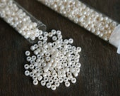 2 tubes 8/0 toho ivory pearl japanese seed beads (color no. 123)