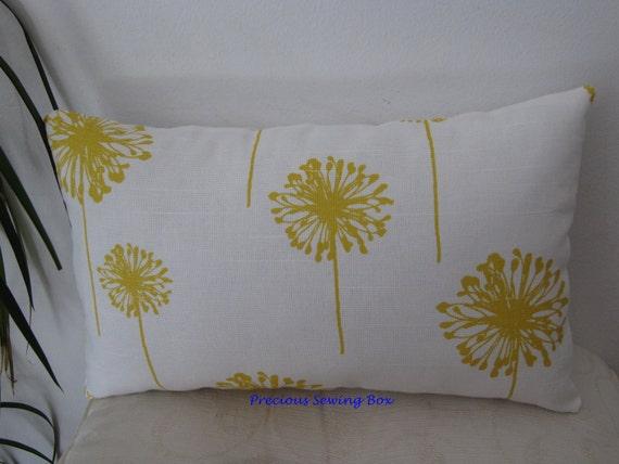 Yellow/White Dandelion Decor Pillow/Lumbar Pillow