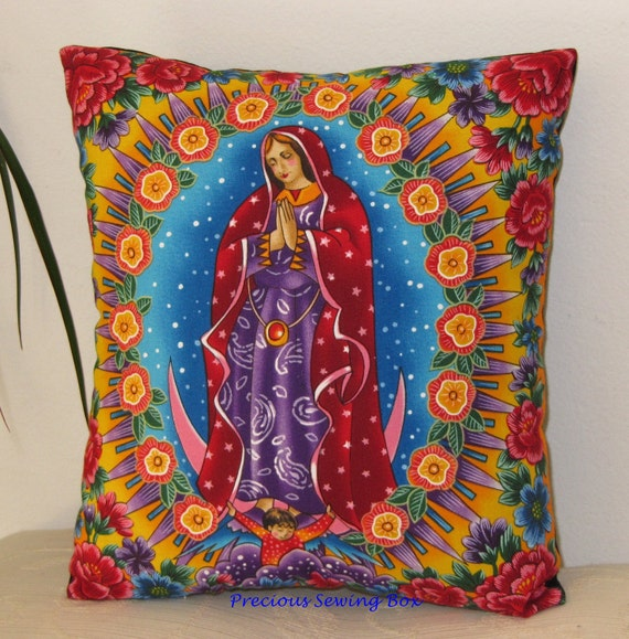 Our Lady Of Guadalupe Pillow Virgin Mary Pillow