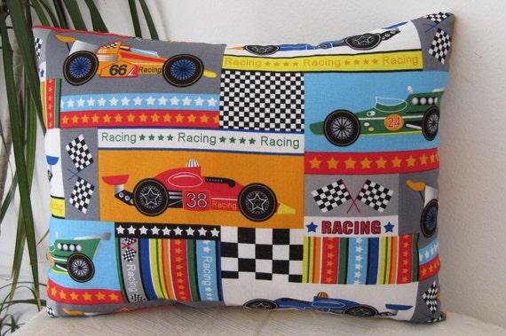 Racing Cars Toddler Pillow/Travel Pillow