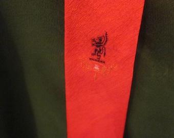 Vintage Red Men's Tie 1950s Slim