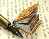 "super mini miniature hand bound  book ""Buddah"""