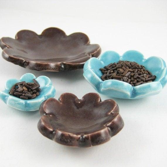 Custom Flower Nesting Bowls Set of Four Made to Order