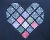 Navy Heart - XL -  to benefit Heartline Ministries, Port Au Prince, Haiti