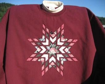 Cranberry Lone Star Sweatshirt - Large