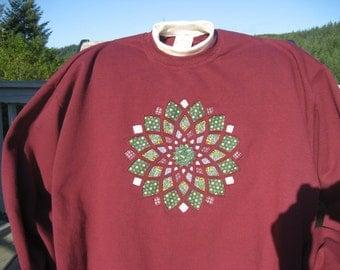 Cranberry Dahlia Sweatshirt - XLarge