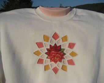 Peach Dahlia Sweatshirt - XL