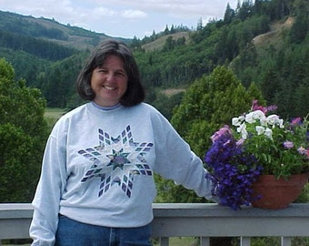 Violet Lone Star sweatshirt - large