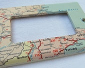 vintage map  BULGARIA, GREECE, TURKEY decora style ight switch plate