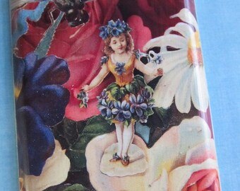FLOWER FAIRY CHILD  wall plate