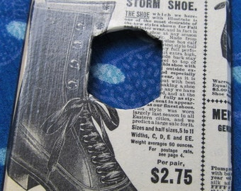 vintage Sears Catalog reproduction STORM SHOE despard/dimmer light switch plate cover
