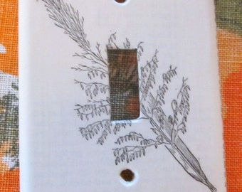 vintage dictionary WILD RICE  light switch plate