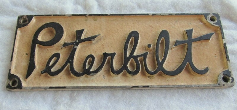 Vintage Peterbilt Nameplate Emblem