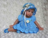 Crochet Pattern 4- DRESS SET for 10 in. to 12 in. Baby Dolls