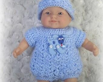 Crochet Pattern 2 - DOLL ROMPER fits 7 - 8inch Berenguer or OOAK Dolls