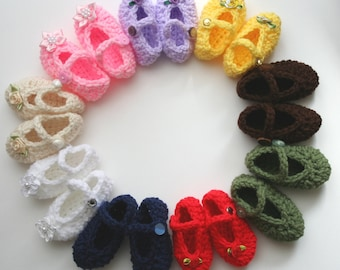 Easy Crochet Pattern for Cute Mary Jane Shoes/Booties-fits Newborn Baby & Reborn Dolls