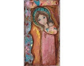 Loving Mother - Print from  Painting by FLOR LARIOS (5 x 10 INCHES)