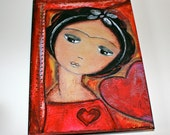 Always in Love Frida - Greeting Card 5 x 7 inches - Folk Art By FLOR LARIOS