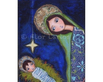 Nativity Star - Reproduction from Painting by FLOR LARIOS (8 x 10 Inches Print)  Front Cover of  a book and calendar by Liguori Publications
